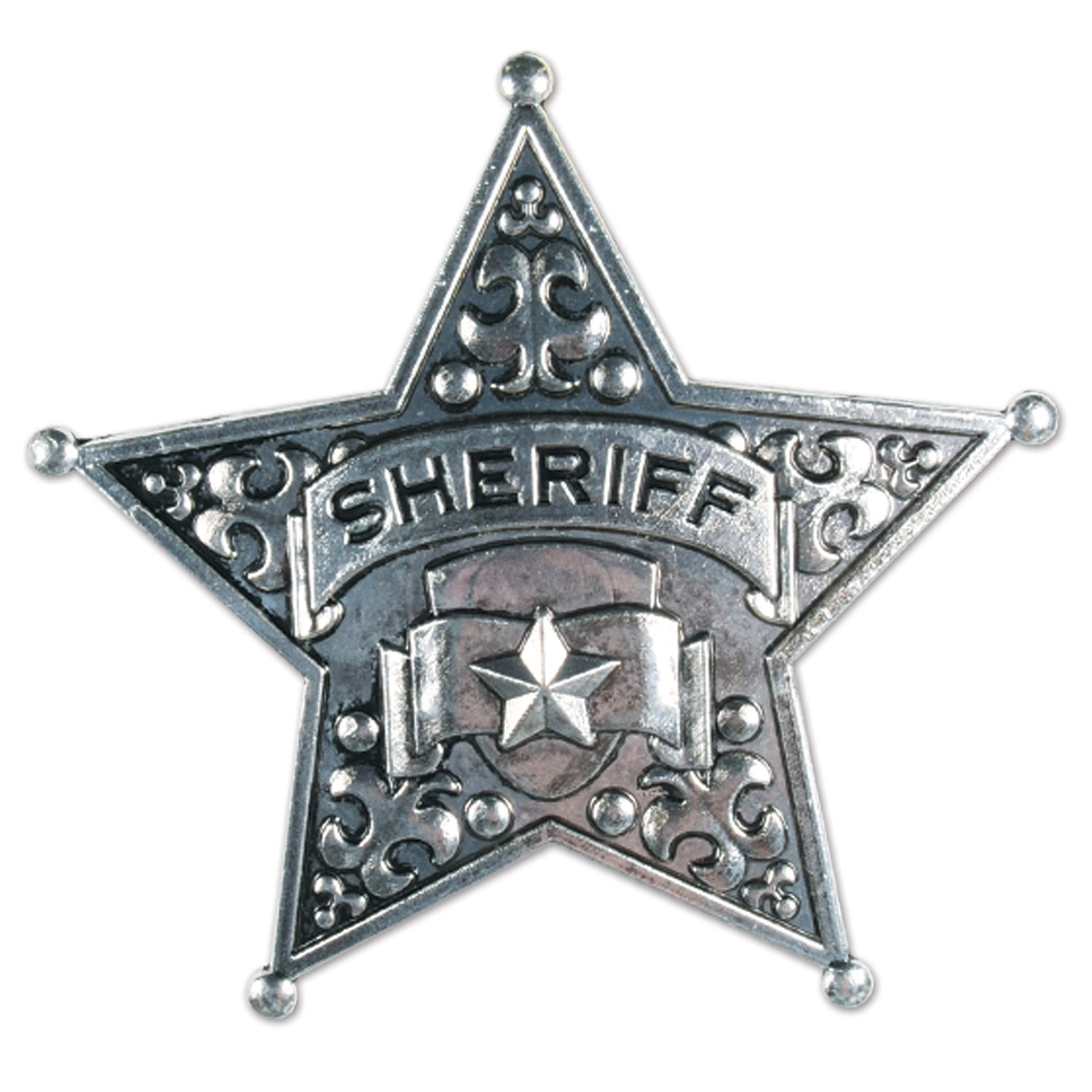 Metal Sheriff Badge (Pack of 12) .