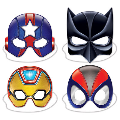 Superhero masks to cover half the face.