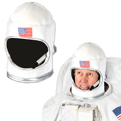 Plush Astronaut Helmet (Pack of 6) Plush Astronaut Helmet, astronaut helmet, hat, novelty hat, space, outer space, galaxy, party favor, wholesale, inexpensive, bulk