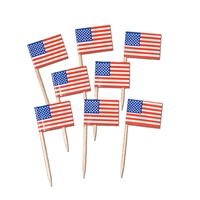 Packaged U.S. Flag Picks (Pack of 600) Packaged U.S. Flag Picks, flag, picks, party favor, decoration, wholesale, inexpensive, bulk, patriotic, july 4th