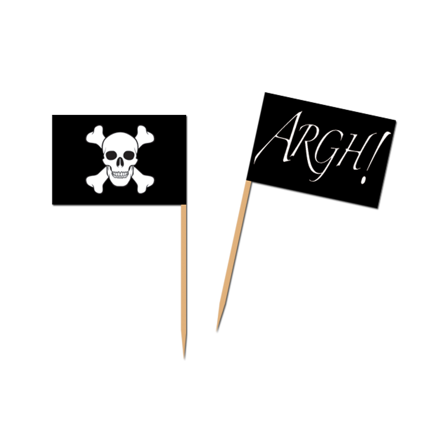 Pirate Flag Picks (Pack of 600) Pirate Flag Picks, pirate, new years eve, halloween, wholesale, inexpensive, bulk, decoration, finger food