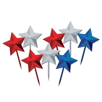 Star Picks (Pack of 12) Patriotic, Star, pick, red, white, blue, food picks, july 4th