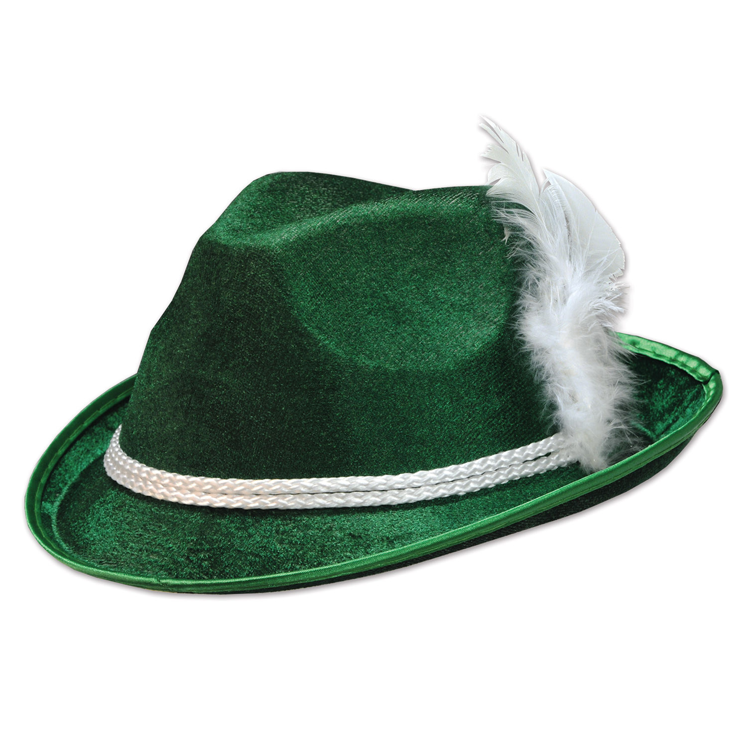 Forest Green Vel-Felt Alpine Hat (Pack of 12) Forest Green Vel-Felt Oktoberfest Alpine Hat, oktoberfest, party favor, hat, wholesale, inexpensive, bulk