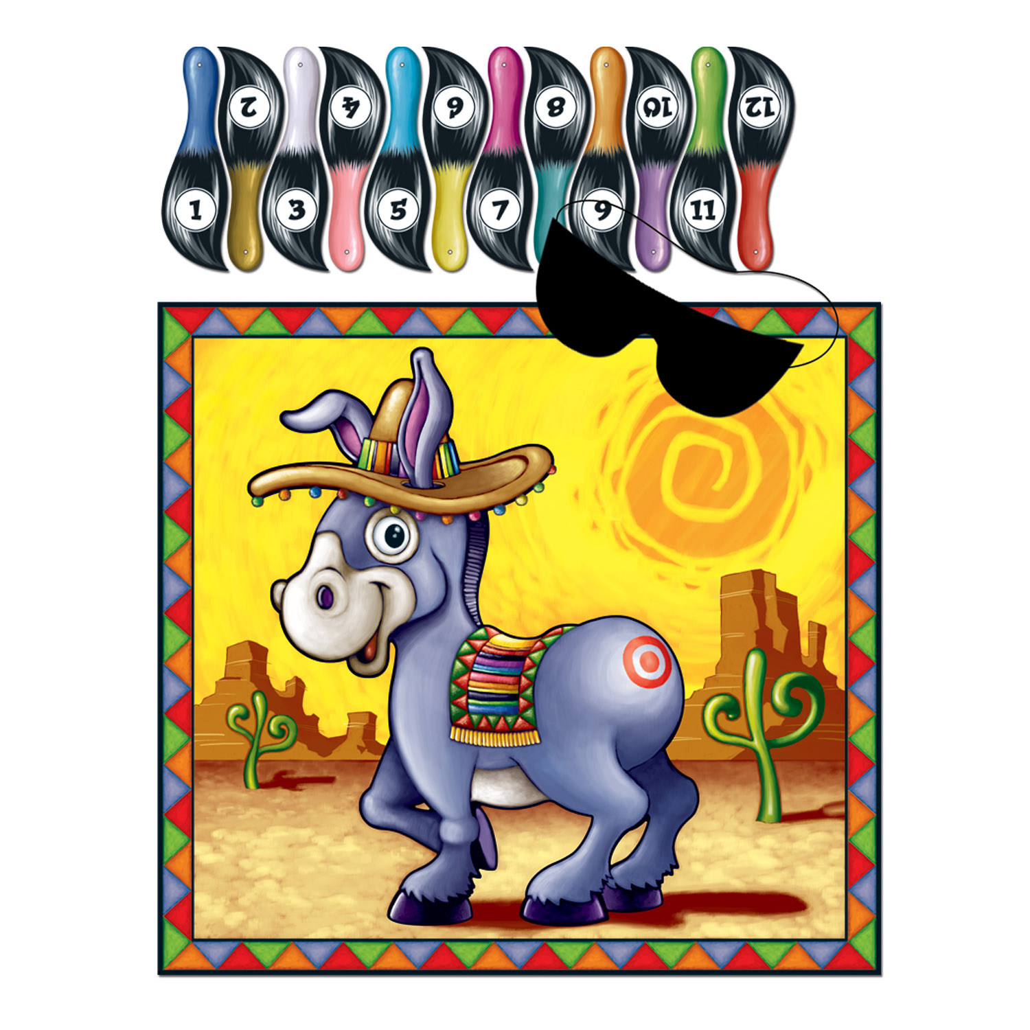 Donkey Game (Pack of 24) Donkey Game , birthday, boy, girl, pin the tail on the donkey, wholesale, inexpensive, bulk