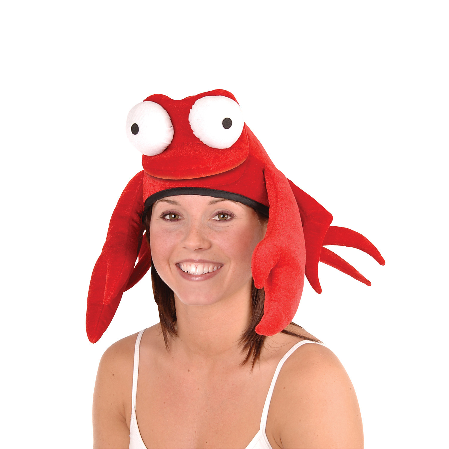 Plush Crab Hat (Pack of 6) Plush Crab Hat, party favor, luau, new years eve, wholesale, inexpensive, bulk