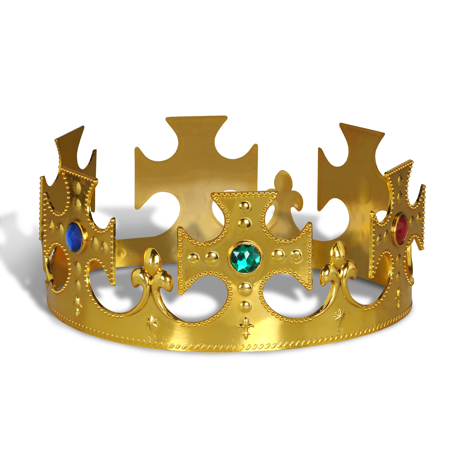 Plastic Jeweled Kings Crown (Pack of 12) .