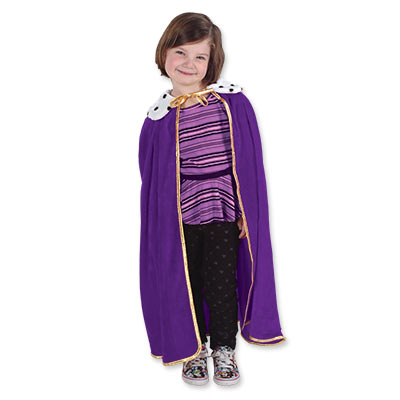 Purple Child King/Queen Robe for a Medieval themed party