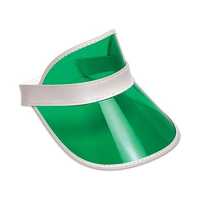 Clear Green Plastic Dealers Visor (Pack of 12) clear, green, plastic, dealers, visor, cards, poker, casino, Las, Vegas, gambling, party, night, event,
