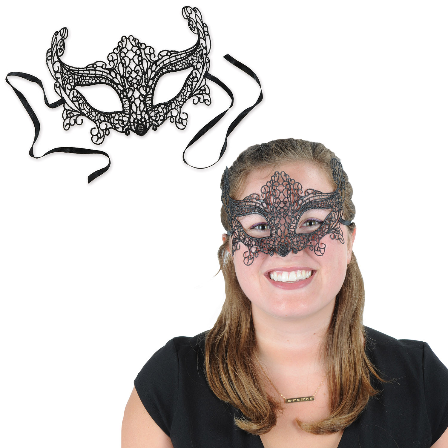 Lace Mask (Pack of 12) Lace Mask, new years eve, decoration, party favor, mardi gras, halloween, wholesale, inexpensive, bulk