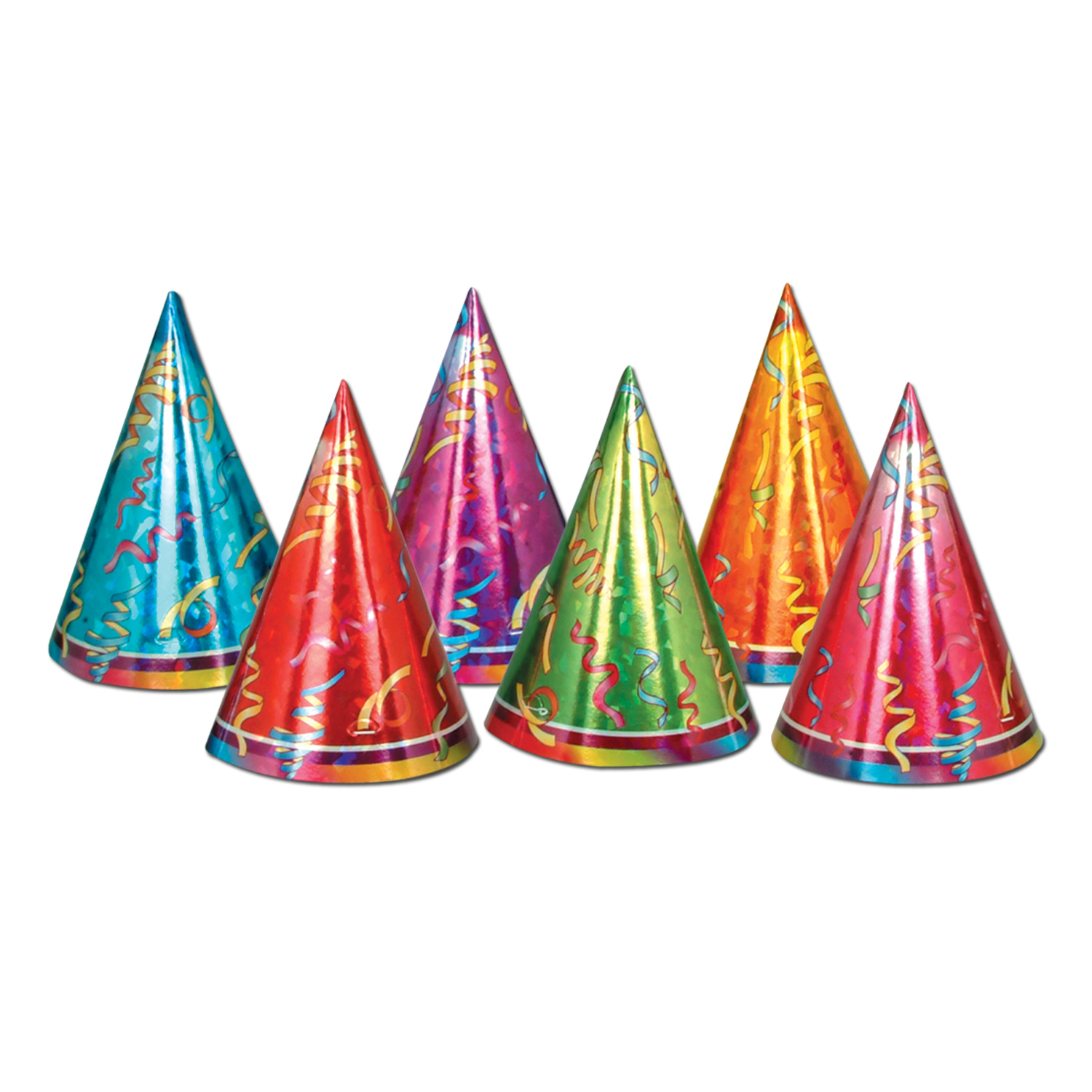 Prismatic Cone Hats (Pack of 72) Cone Hats, Prismatic Hats, Assorted Hats, Cheap hats, Party hats, Wholesale party supplies, Inexpensive decorations, Birthday ideas, Birthday hats