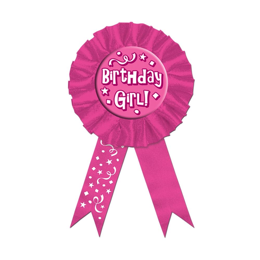 Inexpensive Birthday Girl Award Ribbon