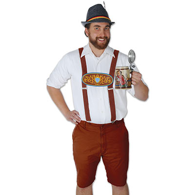 Suspenders for any Oktoberfest with a Bavarian look.