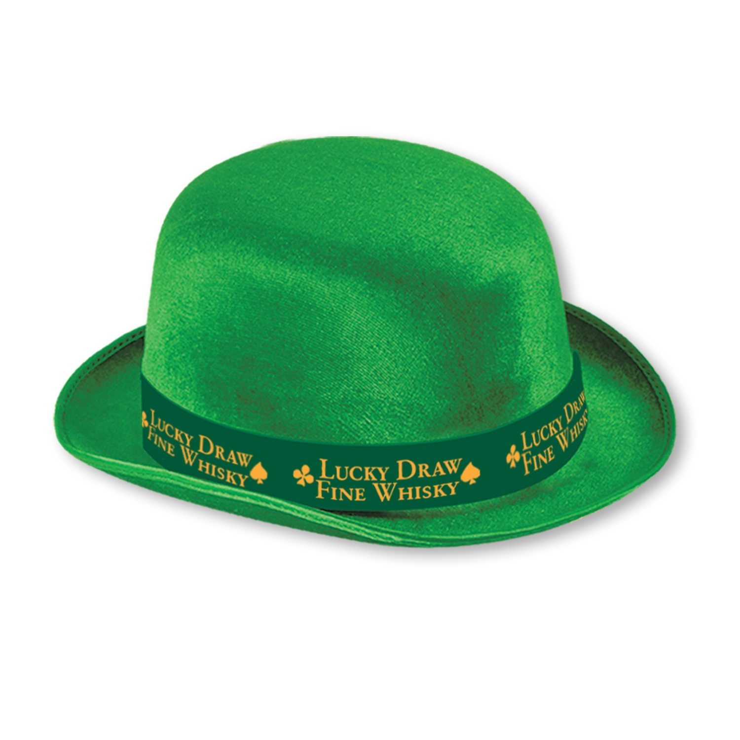 Custom Imprinted Green Felt Derbies with Band Custom Imprinted Green Felt Derbies with Band, custom, green, derby, hat, st. patricks day, party favor, wholesale, inexpensive, bulk