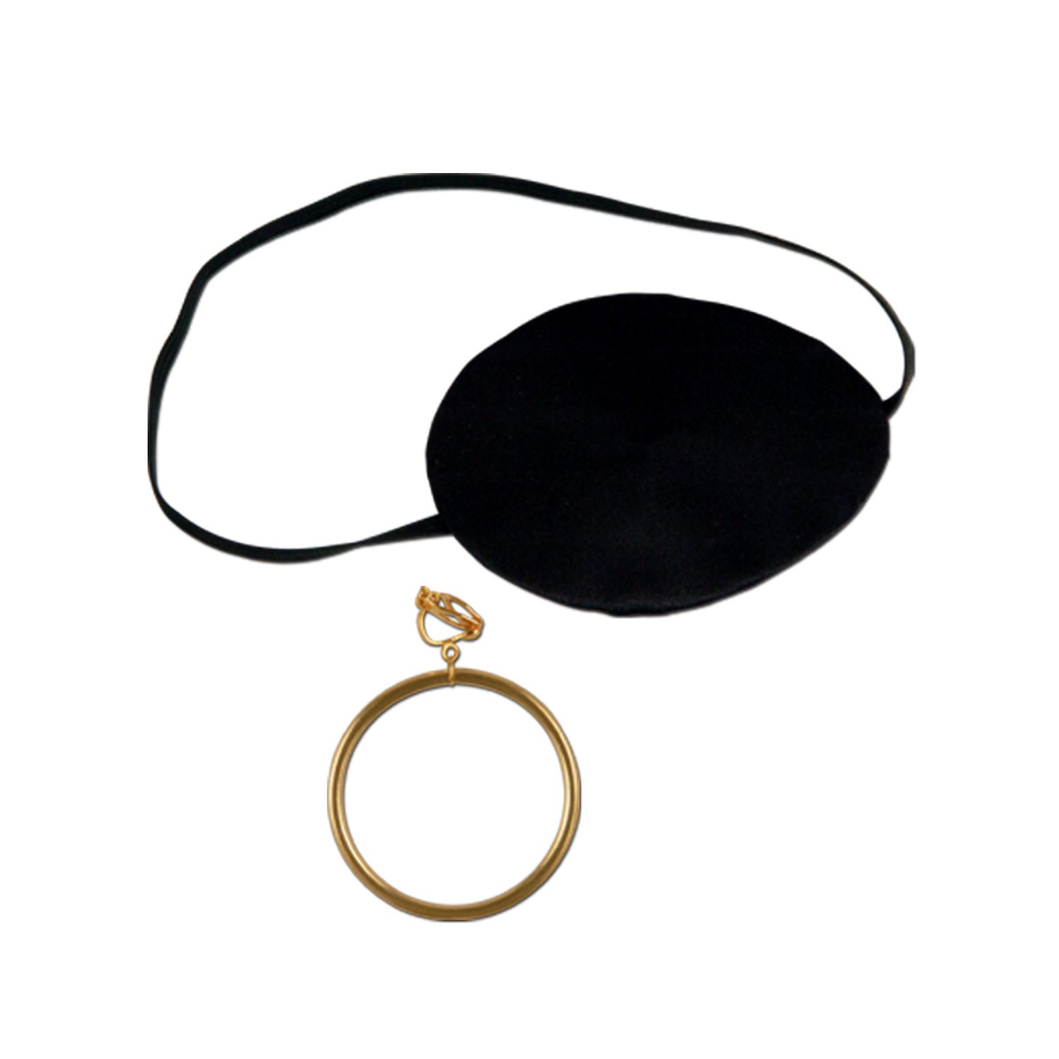 Pirate Eye Patch w/Plastic Earring (Pack of 12) Pirate Eye Patch with Plastic Earring, party favor, pirate, new years eve, halloween, wholesale, inexpensive, bulk