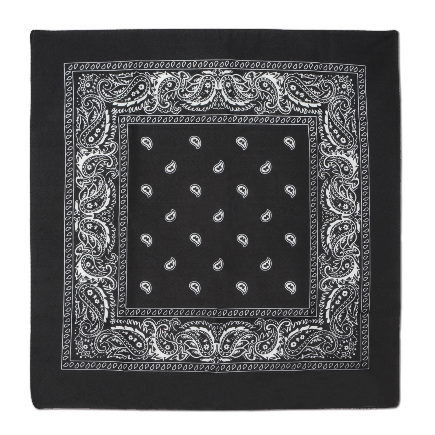 Black Bandana (Pack of 12) Western, inexpensive, bulk, wholesale, accessories, new, years, eve, bandana