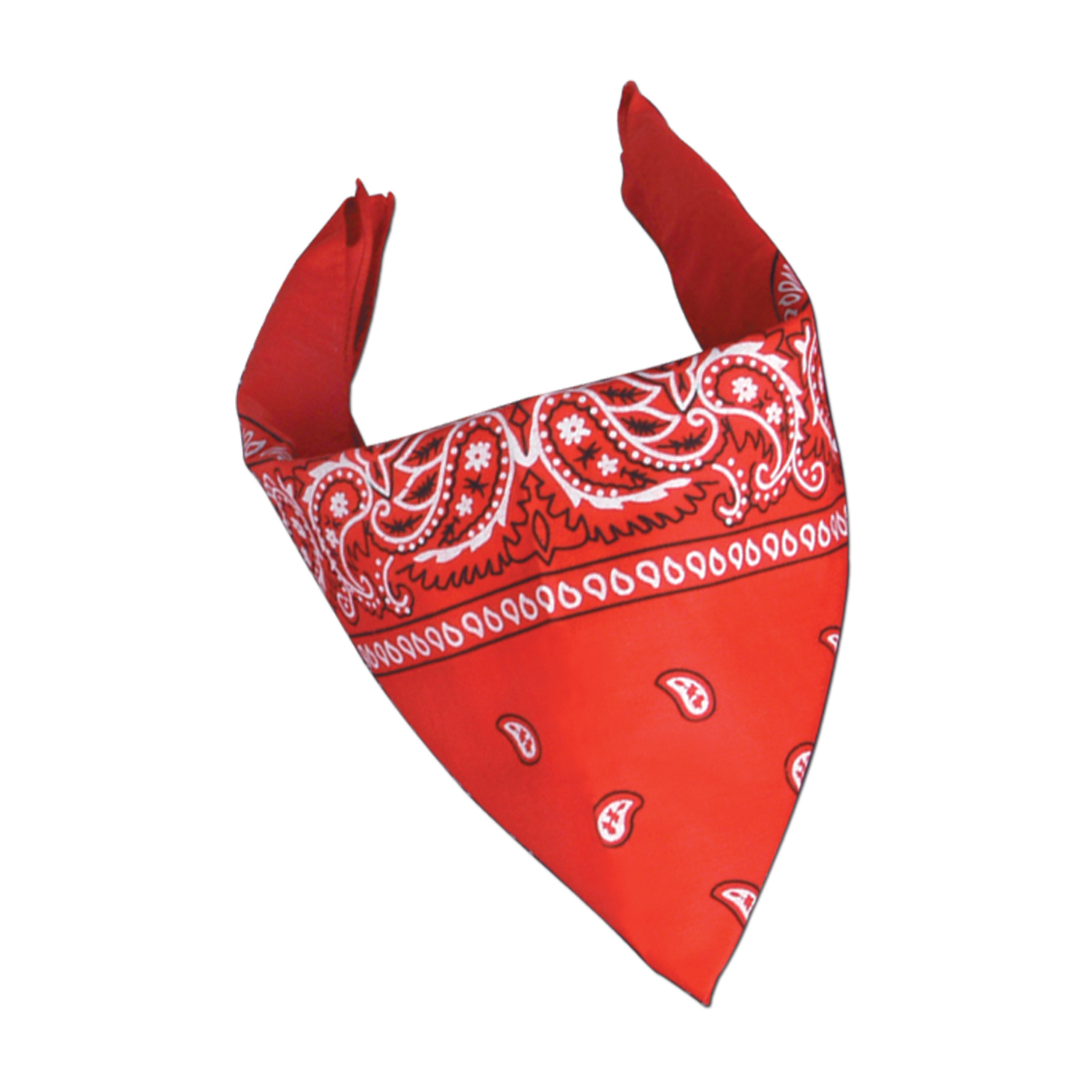 Red Bandana (Pack of 12) bandana, red, western, new years eve, party, decoration, party favor, inexpensive, wholesale, bulk