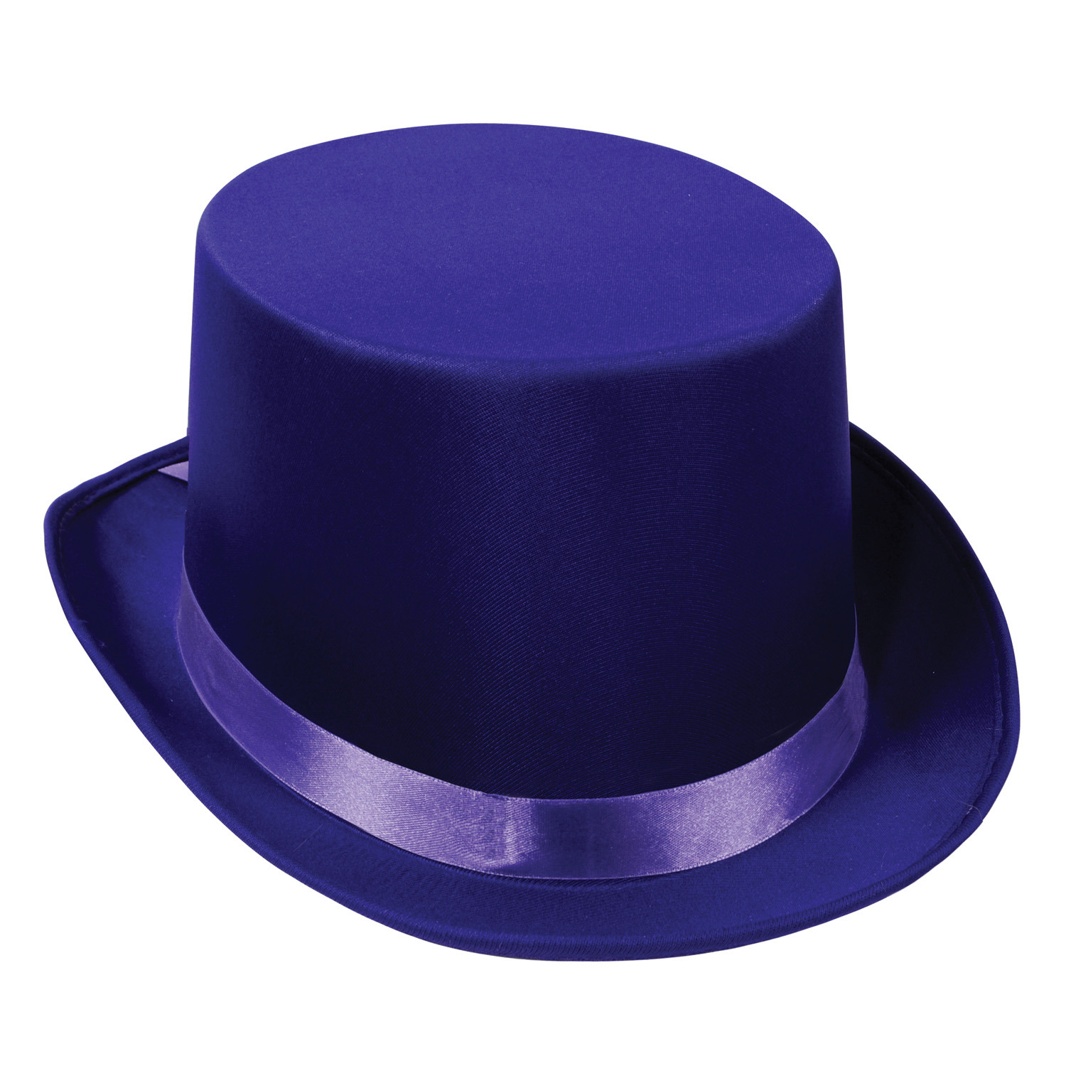 Satin Sleek Top Hat (Pack of 6) Top Hat, Cloth Hat, Upscale party favors, Mardi Gras, New Years Eve, Wearable, Purple, Purple hats, Wholesale party supplies, Bulk party favors, Satin Sleek Hats