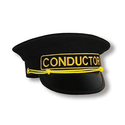 Conductor Hat (Pack of 6) Conductor Hat, party favor, halloween, birthday, western, wholesale, inexpensive, bulk, hat