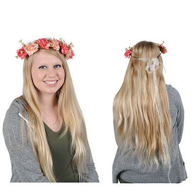 Floral Crown (Pack of 12) Floral Crown, party favor, medieval, princess, wholesale, inexpensive, bulk