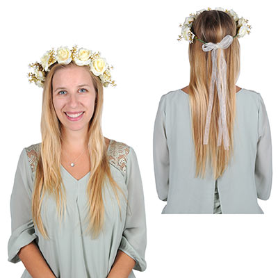 Floral Crown (Pack of 12) Floral Crown, party favor, medieval, new years eve, wholesale, inexpensive, bulk