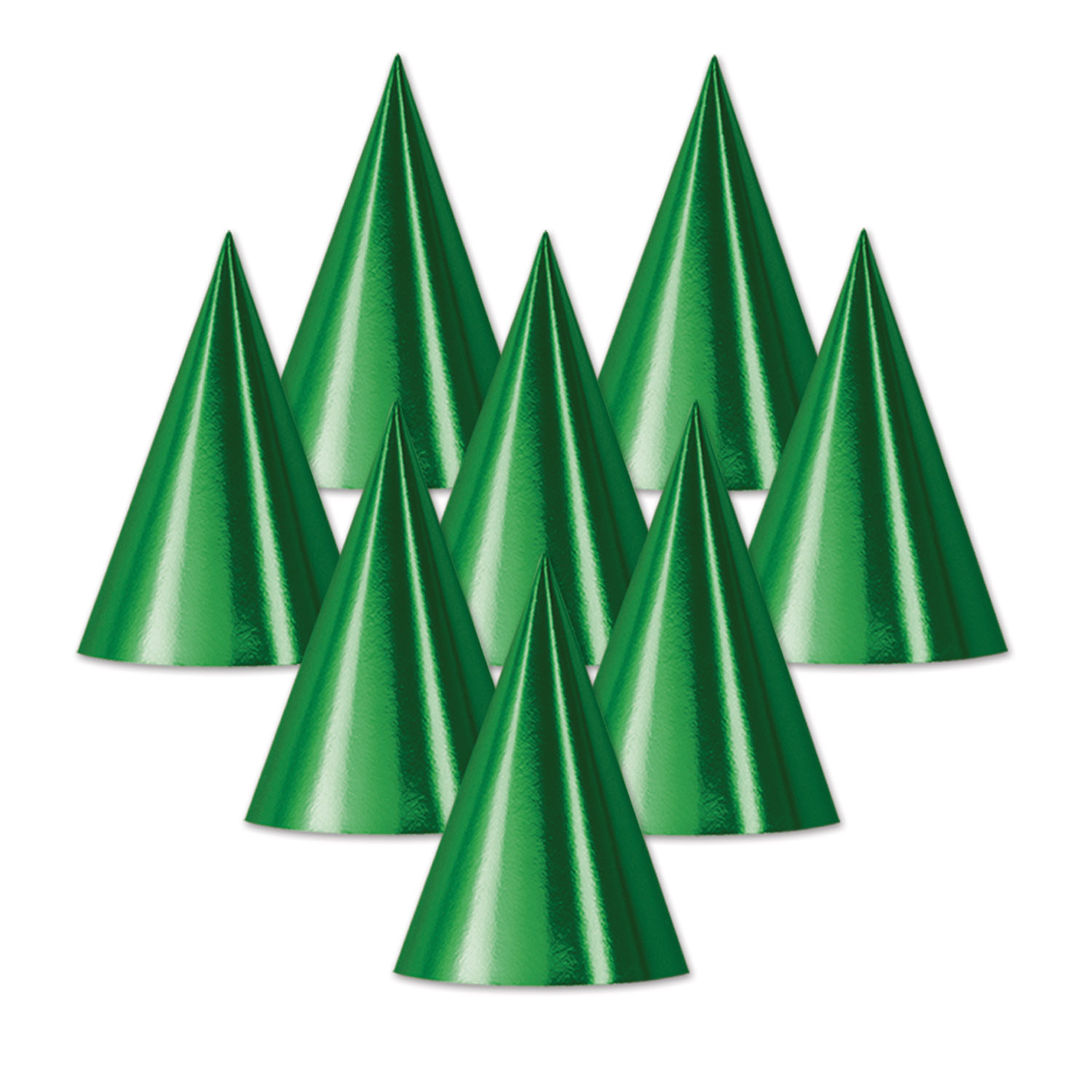 Foil Cone Hat (Pack of 48) Foil Cone Hat, st. patricks day, birthday, party favor, new years eve, wholesale, inexpensive, bulk