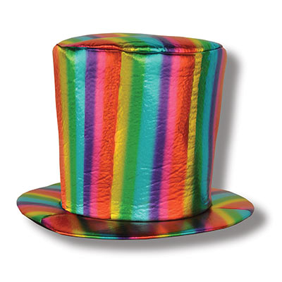Fabric Rainbow Hat (Pack of 6) Fabric, Rainbow, Hat, pride, top hat, wearable, costume