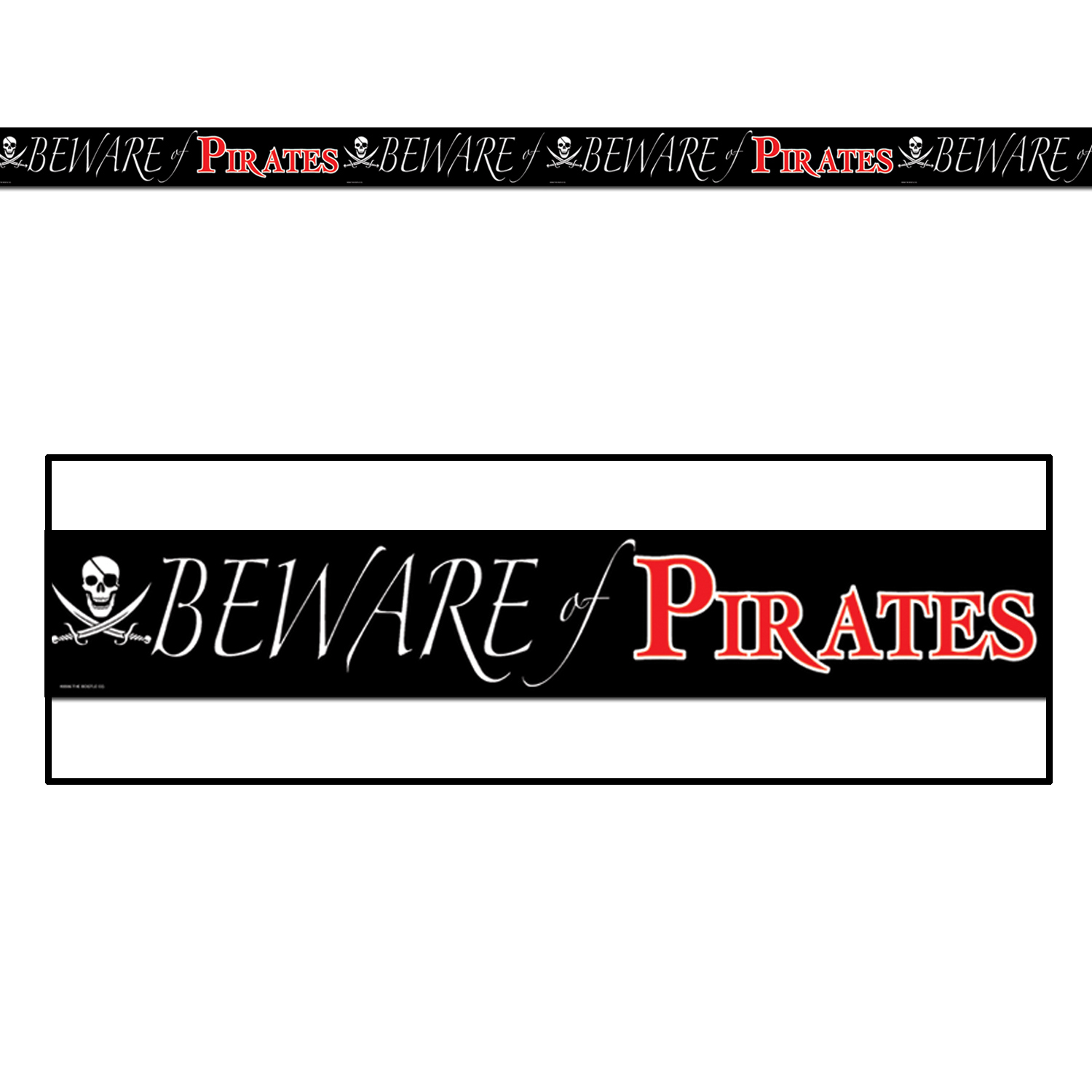 Beware Of Pirates Party Tape (Pack of 12) Party Tape, Pirate Decor, All-weather tape, Cheap pirate supplies, Birthday ideas, Birthday supplies, Pirate events, Wholesale party supplies, Inexpensive party goods