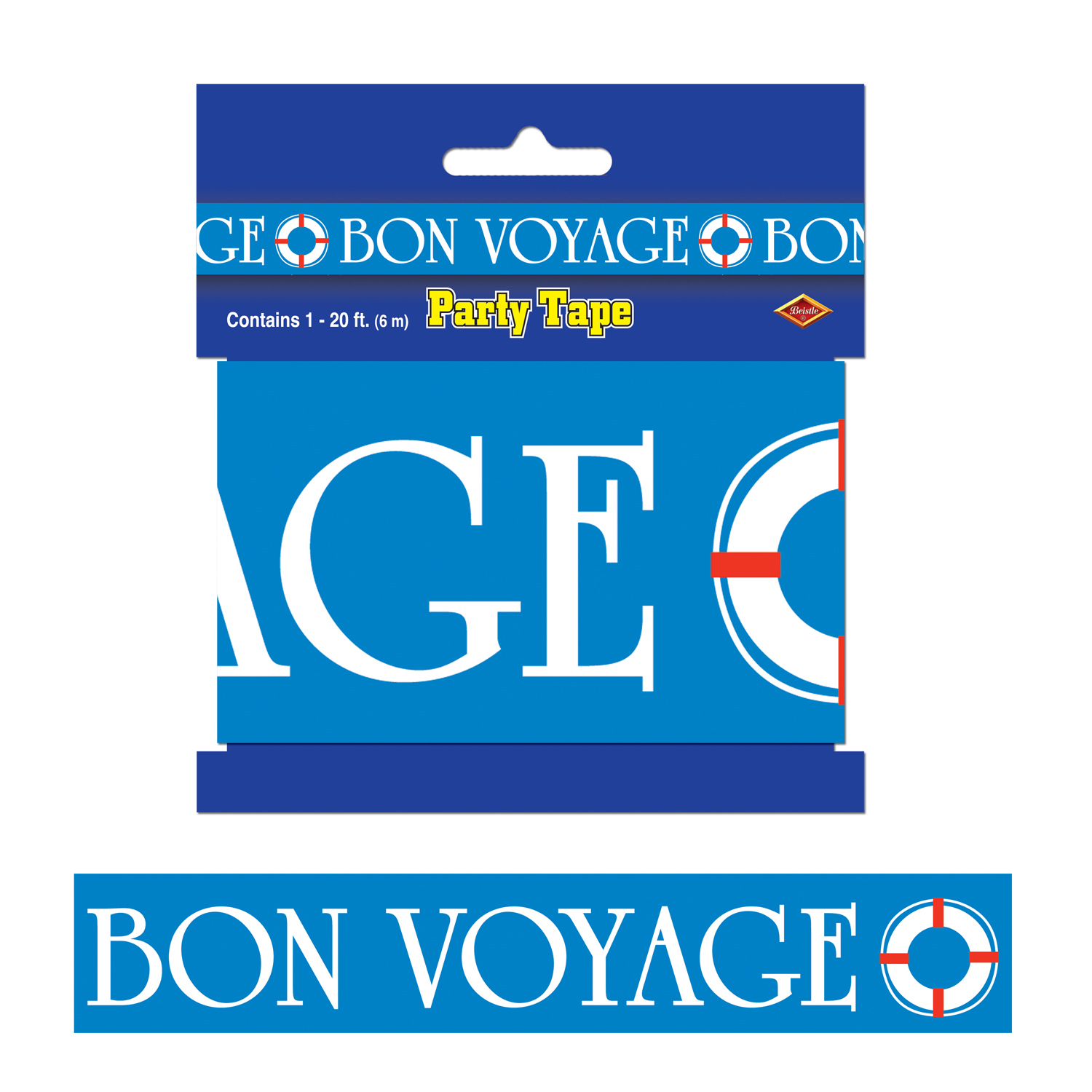 Bon Voyage Party Tape (Pack of 12) Party, tape, bon voyage, nautical, luau, retirement, all weather