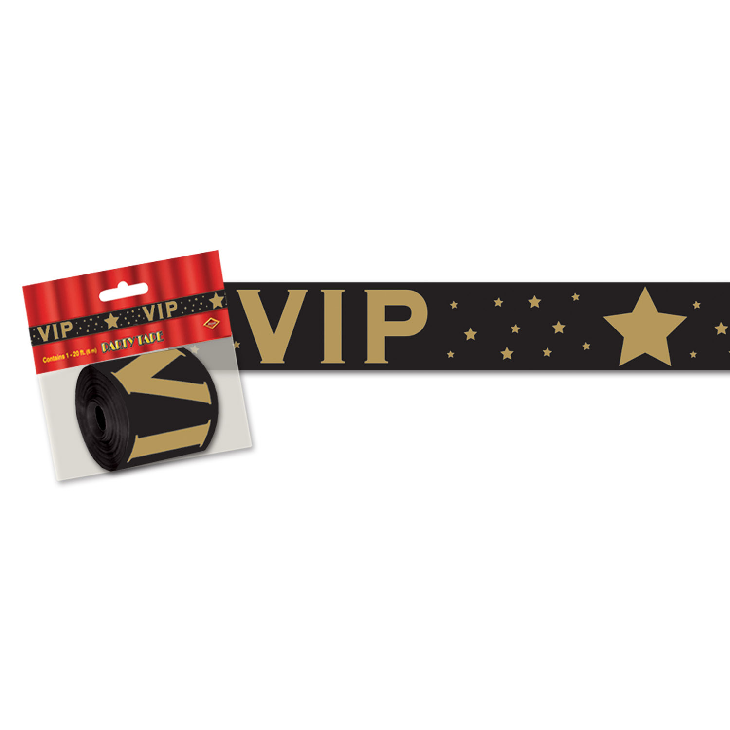 VIP Poly Decorating  Material (Pack of 12) VIP, Hollywood, streamer, tape, awards night
