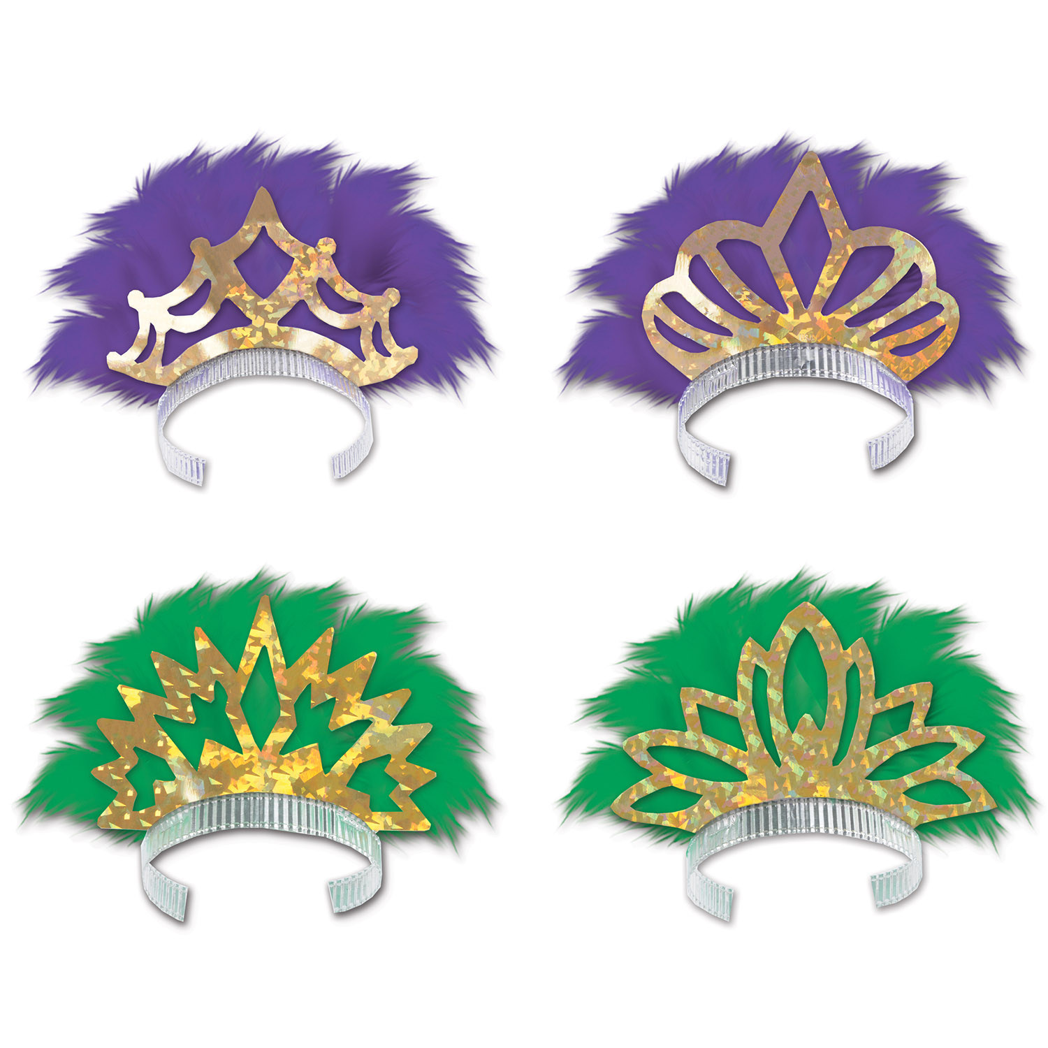 Feathered Tiaras (Pack of 25) .