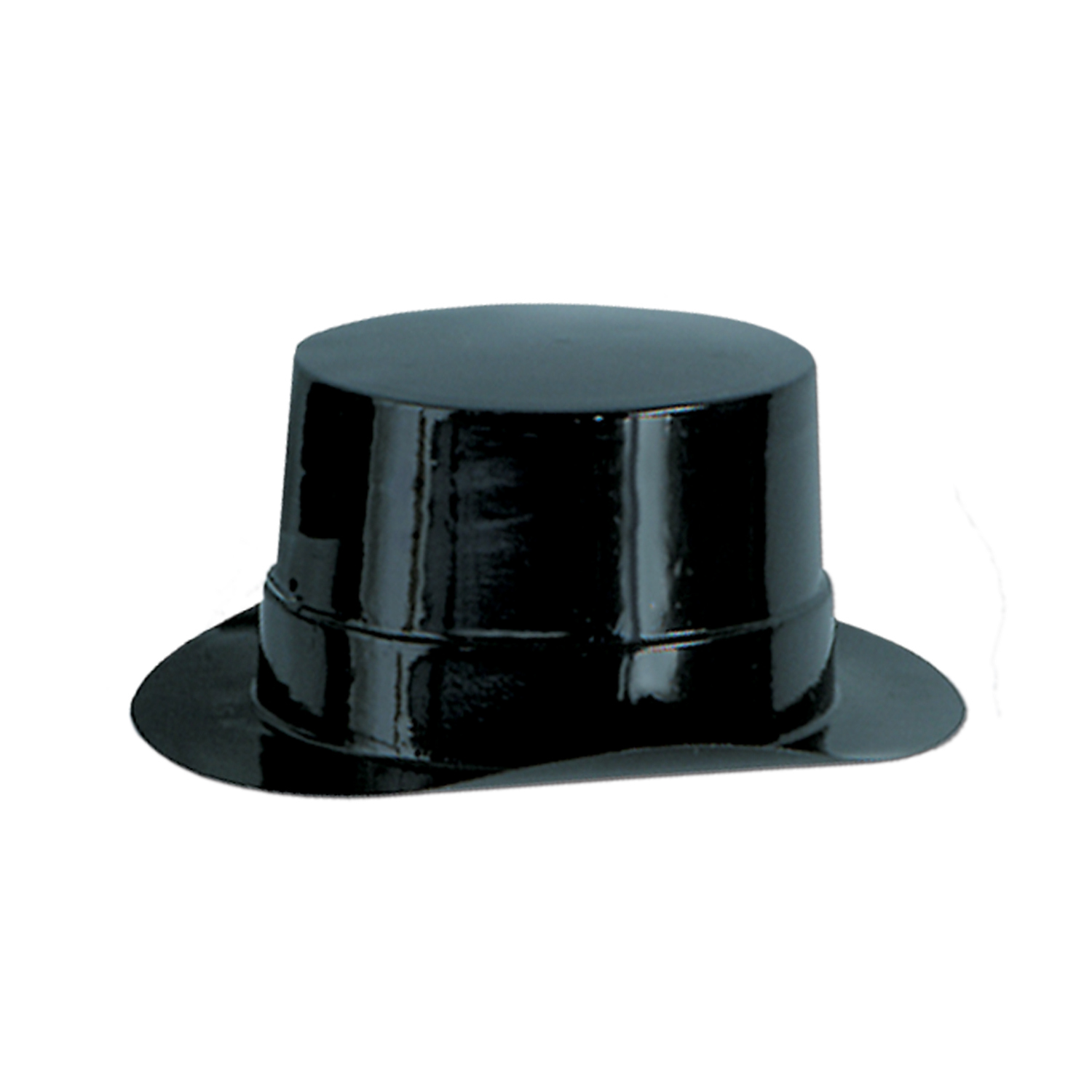 Miniature Black Plastic Topper (Pack of 48) miniature, black, plastic, topper, top, hat, decoration, table, accessories, party, pack