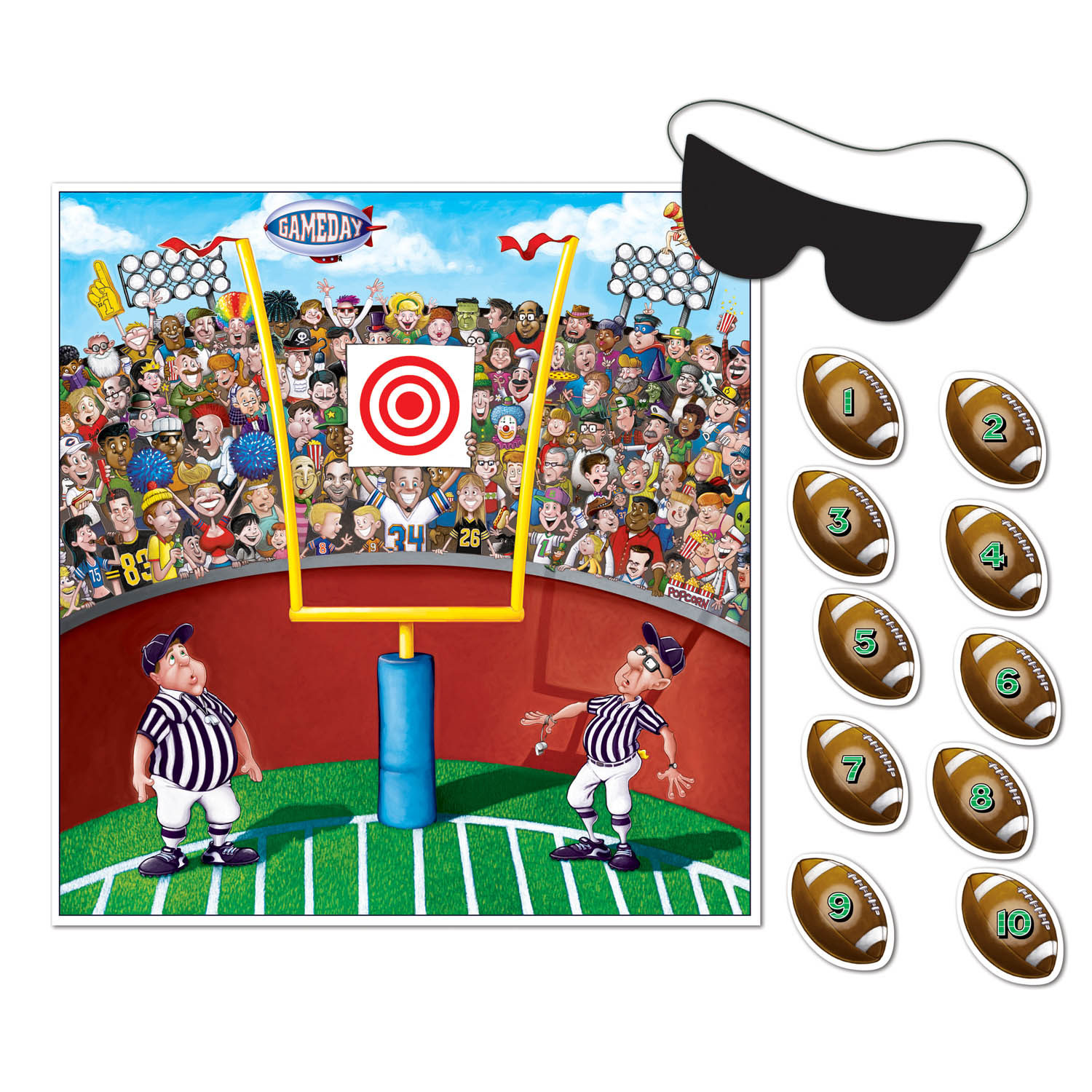 Pin The Ball Football Game (Pack of 24) Pin The Ball Football Game, football, big game, wholesale, inexpensive, bulk