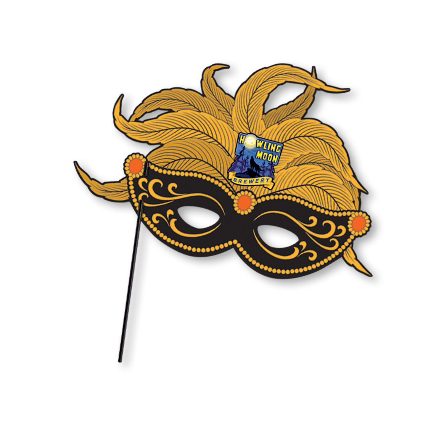 Custom Printed Mardi Gras Stick Mask cardstock, masks, mardi gras, halloween, customize