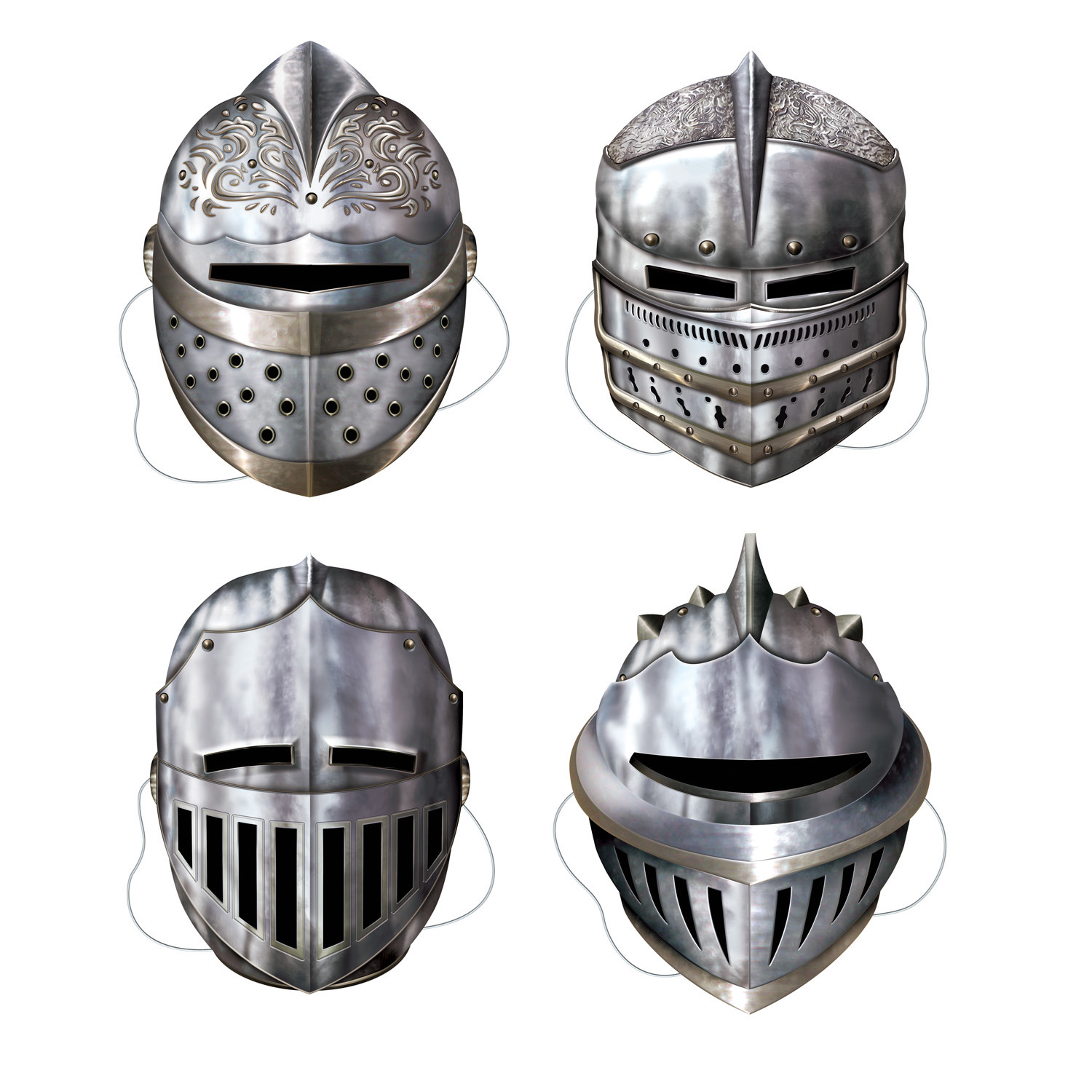 Knight Masks (Pack of 48) cardstock, knights, masks, medieval, renaissance