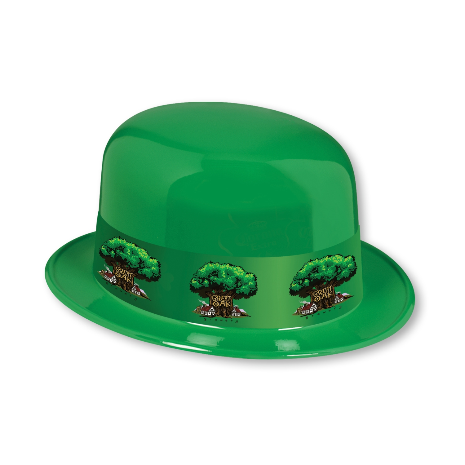 Custom Plastic Derbies with Imprinted Band st. patricks day, custom, plastic, derbies, hat, imprinted band