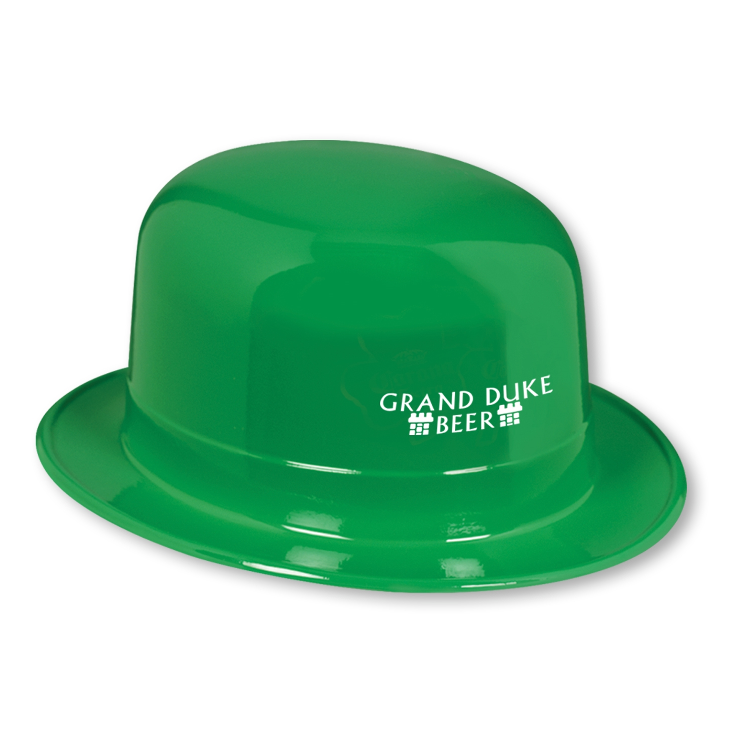 Custom Plastic Derbies with Direct Imprint Custom, St. Patricks Day, direct imprint, hat, derbie, favor, party