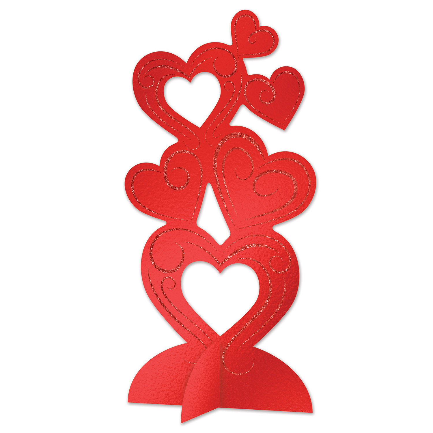 3-D Glittered Heart Centerpiece (Pack of 12) 3-D Centerpiece, Heart Centerpiece, Glittered Heart Centerpiece, Wholesale party supplies, Inexpensive party decorations, Valentines Decor, Heart party supplies, Valentines Day Ideas