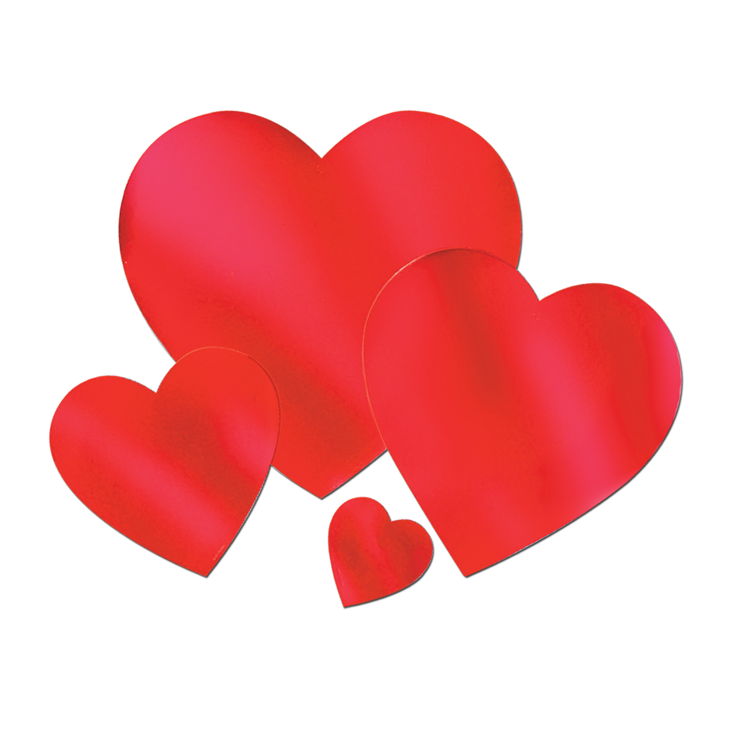 "12"" Foil Heart Cutout (Pack of 24) ."