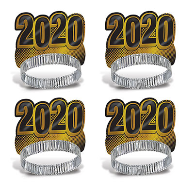 New Year 2020 Gold Tiaras (Pack of 50) New Year 2020 Gold Tiaras, New Years Eve, Gold Tiaras, Tiaras