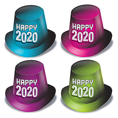 New Year 2020 Hi-Hats (Pack of 25) New Year 2020 Hi-Hats, New years Eve party supplies, Hi-hats