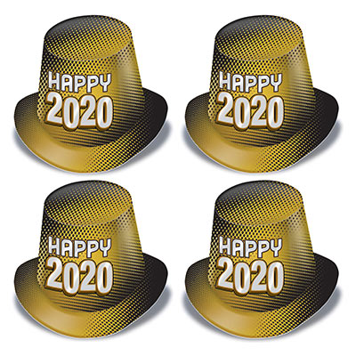 New Year 2020 Gold Hi-Hat (Pack of 25) New Year 2020 Gold Hi-Hat, New years Eve, Hi-hats, Gold Hats