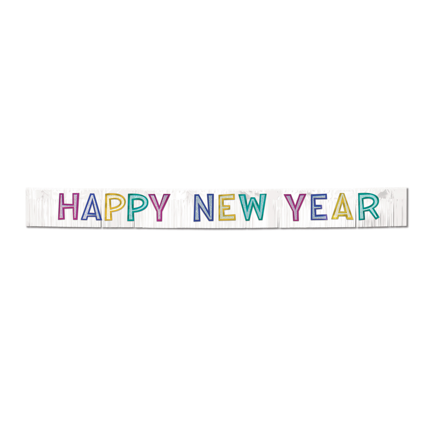 Metallic Happy New Year Banner (Pack of 1) Metallic Happy New Year Banner, Metallic Banner, Banners, Sign Banners, Stringers, New Year Banners, New Year's Eve, Holiday Banner