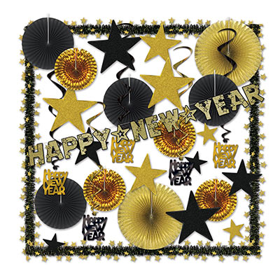 Glistening Gold NY Decorating Kit (Pack of 1)