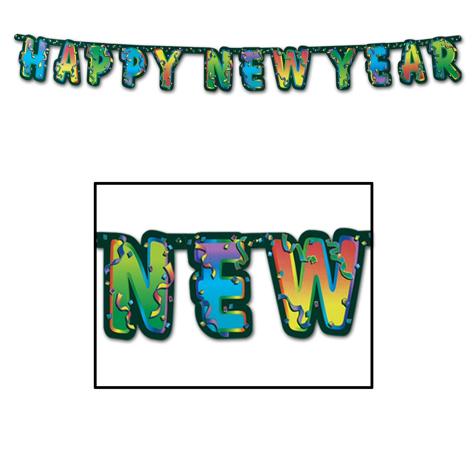 Happy New Year Streamer (Pack of 12) Streamers, Banners, NYE, Colorful decorations, decor, Venue decorations, Hanging Decor