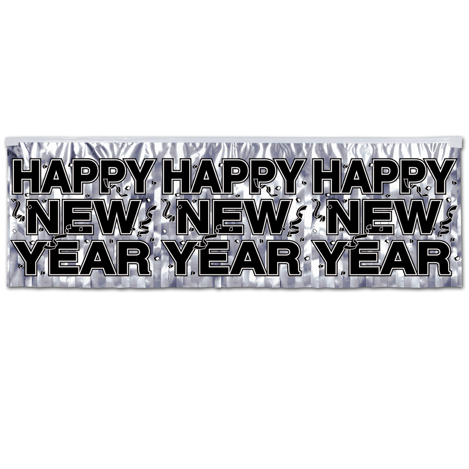 Metallic Happy New Year Fringe Banner (Pack of 1) Metallic Happy New Year Fringe Banner, Fringe Banner, Banners, Sign Banners, Stringers, New Year Banners, New Year's Eve, Holiday Banner