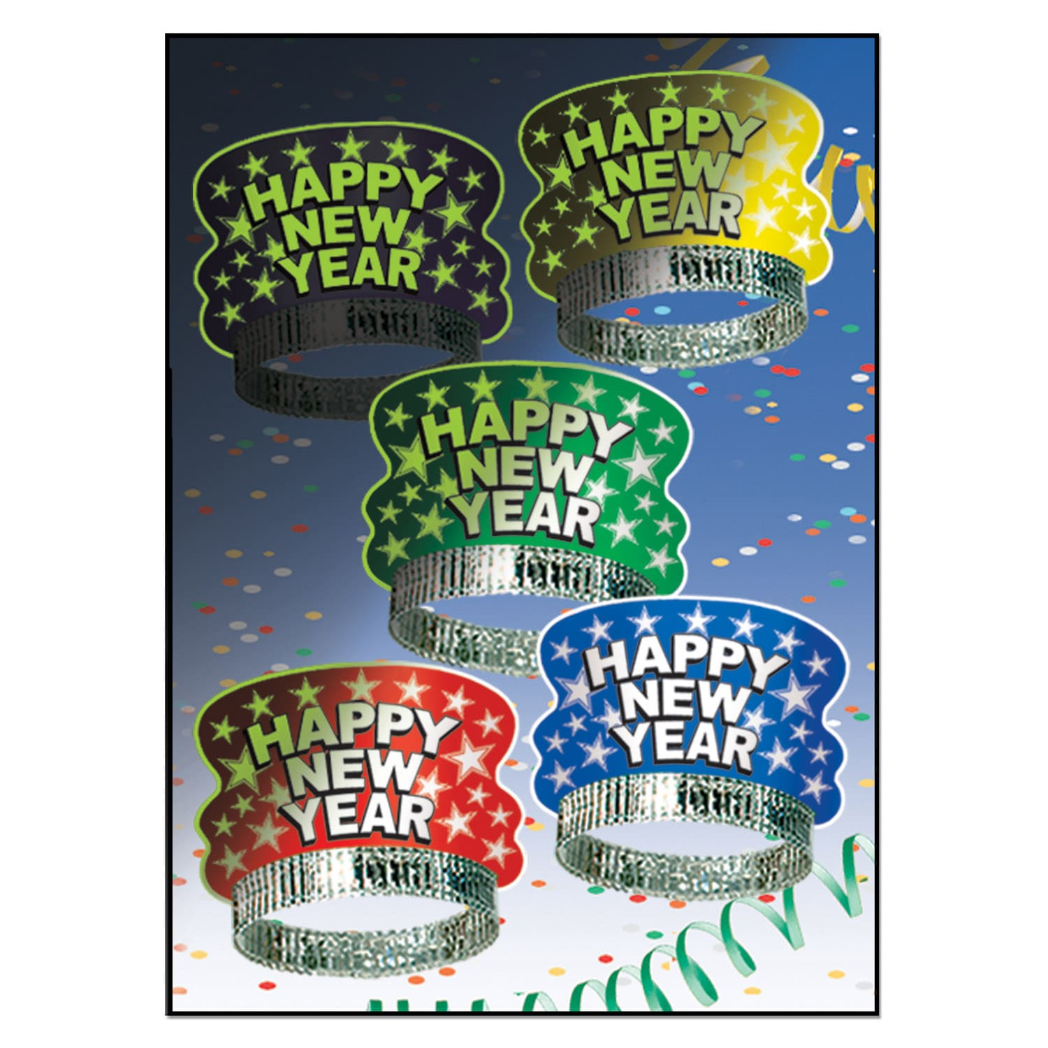 Midnight Glow Tiaras (Pack of 50) midnight, glow, tiaras, happy, new, year, eve, accessory, decoration, party, in, the, dark, hotel, restaurant, bar, casino, country club