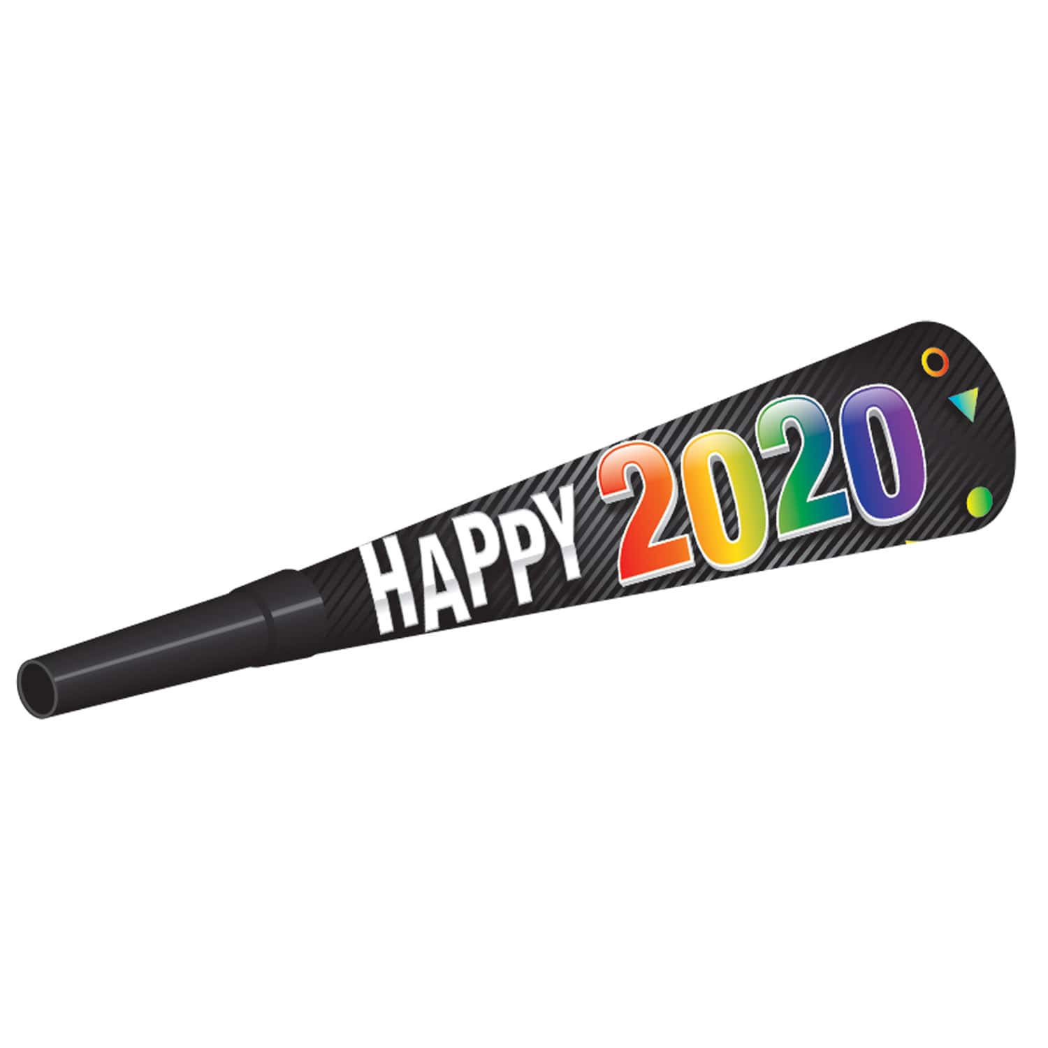 """2020"" Midnight Horns (Pack of 100) ""2020"" Midnight Horns, 2020, midnight horns, party horns, noisemakers, party favor, new years eve, wholesale, inexpensive, bulk"