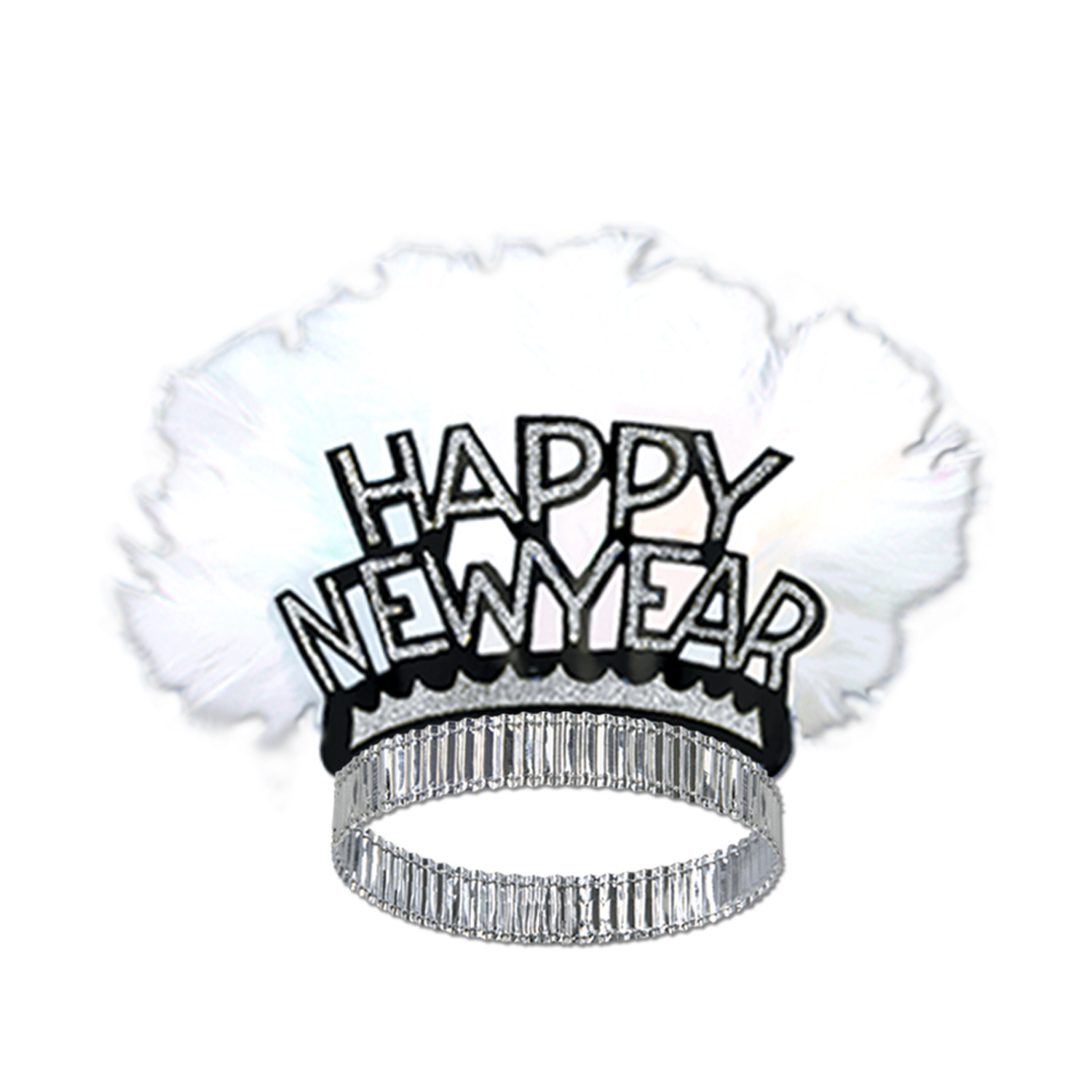 Happy New Year Bird Of Paradise Tiara (Pack of 50) happy, new, year, bird, paradise, tiara, party, eve, white, black, gold, bar, casino, hotel, restaurant