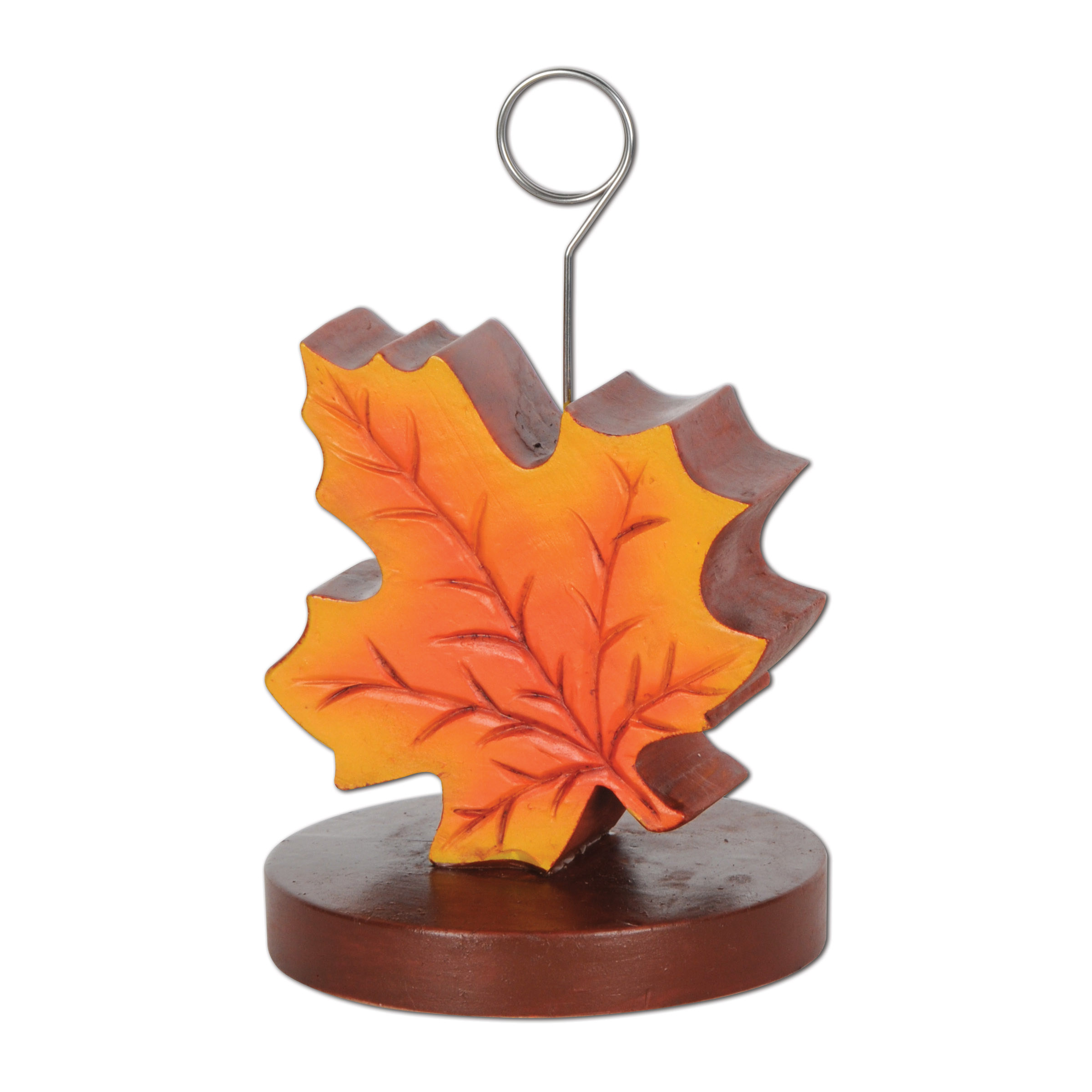 Fall Leaf Photo/Balloon Holder 6 Oz (Pack of 6) Fall Decorations, Autumn decor, Wholesale party supplies, Thanksgiving centerpieces, Inexpensive fall party supplies