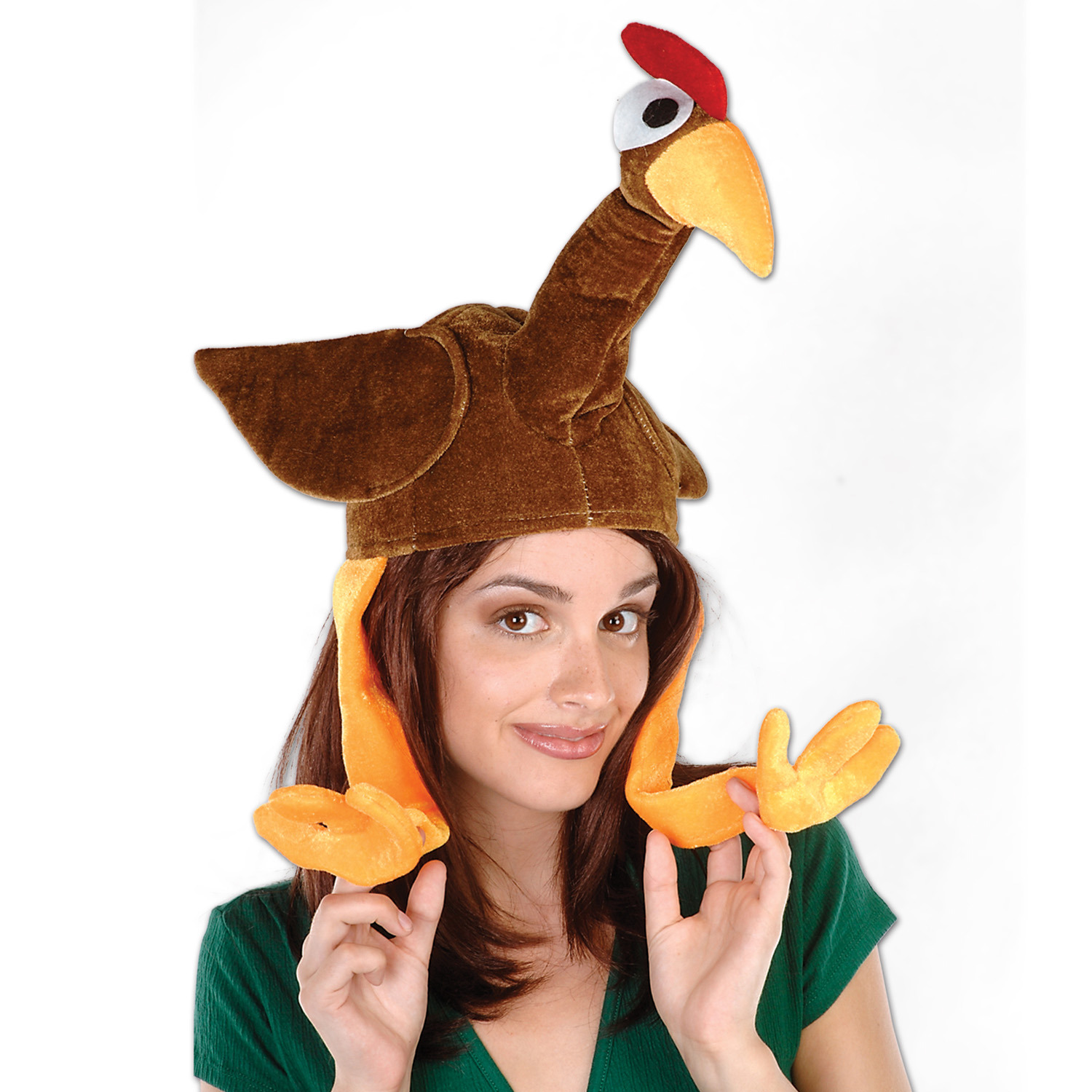 Plush Gobbler Hat (Pack of 6) thanksgiving, plush, hat, gobbler, halloween, costume, fall, turkey